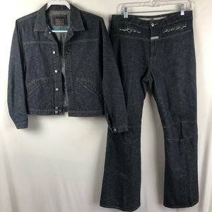 Marithe Francois Girbaud denim Jacket & Jeans set
